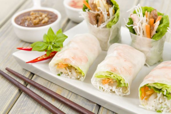 Easy Thai Spring Rolls