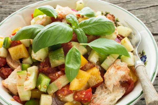 Cucumber, Tomato and Grilled Bread Salad