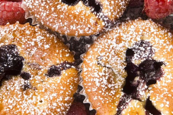 Very Healthy Berry Muffins