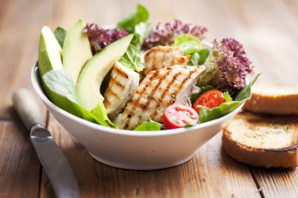 Grilled Chicken Cucumber Avocado Salad