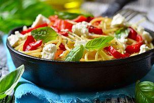Basil Roasted Pepper Pasta