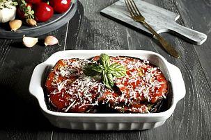 Dutch Oven Eggplant Parmesan